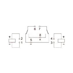 Relais pour calculateur frein de parking V23078C1002A303