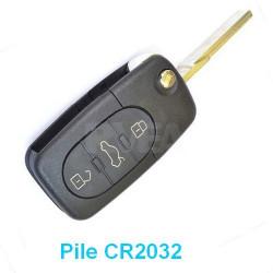 Coque de clé 3 boutons pour Volkswagen