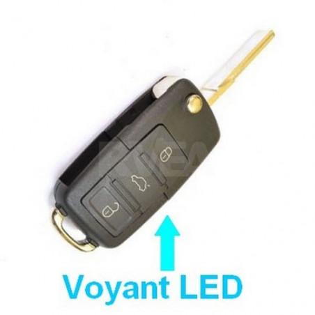Coque de clé 3 boutons Volkswagen Golf 5