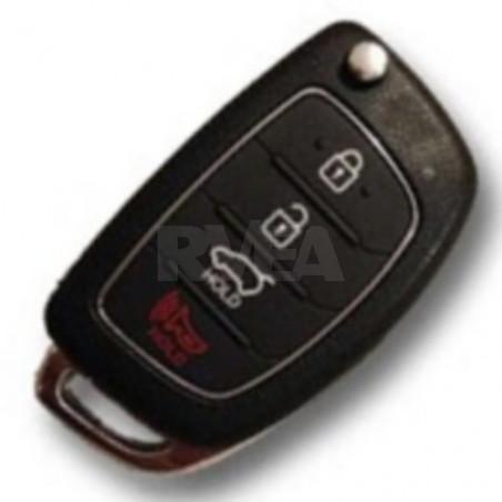 Coque de clé 4 boutons pour Hyundai