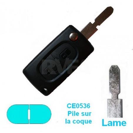 Télécommande plip 2 boutons pour Peugeot