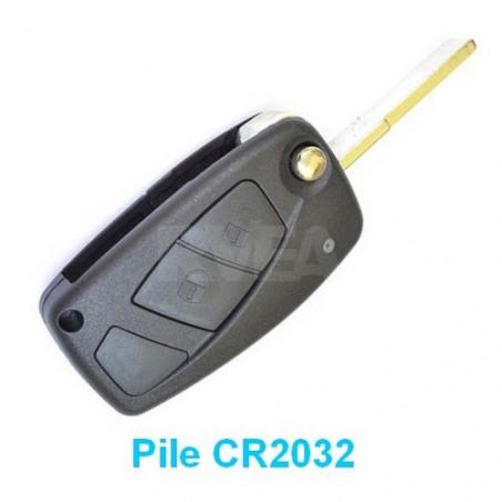 Coque de clé 2 boutons NOIR pour Lancia