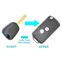 Boitier 2 boutons pour transformer votre clé en clé pliante Toyota Aygo