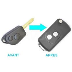 Boitier 2 boutons pour transformer votre clé en clé pliante Peugeot Partner