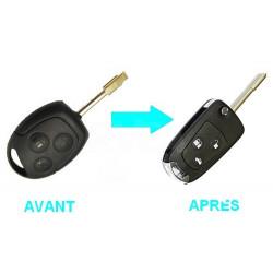Boitier 3 boutons pour transformer votre clé en clé pliante Ford