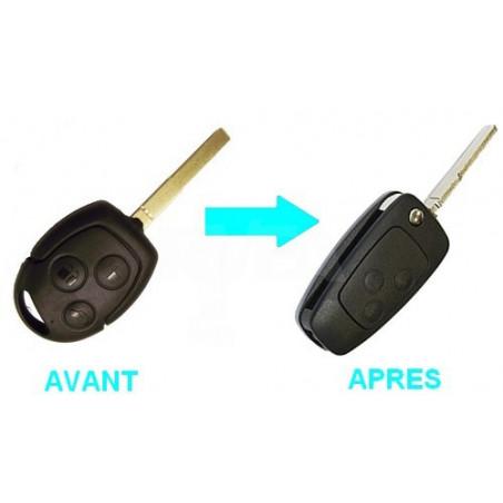 Boitier 2 boutons pour transformer votre clé en clé pliante Ford