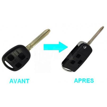 Boitier 3 boutons pour transformer votre clé en clé pliante Lexus