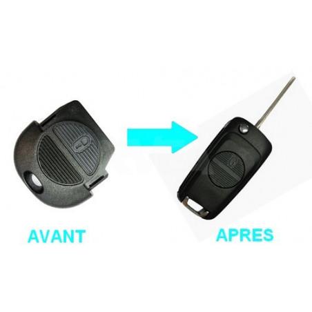 Boitier 2 boutons pour transformer votre clé en clé pliante Nissan