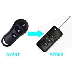 Boitier 3 boutons pour transformer votre clé en clé pliante Jeep
