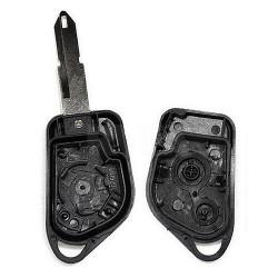 Boitier télécommande 2 boutons pour Peugeot 106 306 pile sur la coque