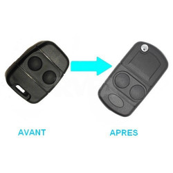Boitier 2 boutons pour transformer votre télécommande en clé pliante MG