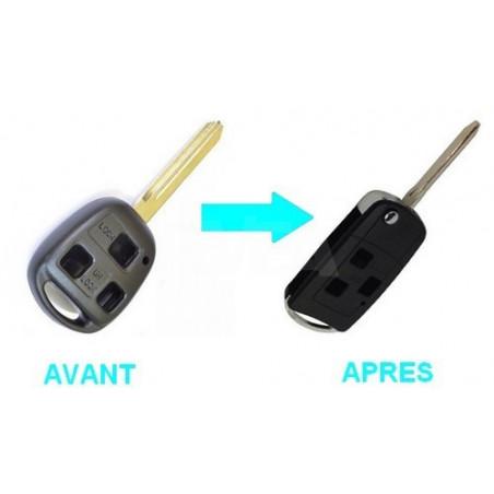 Boitier 3 boutons pour transformer votre clé en clé pliante Toyota