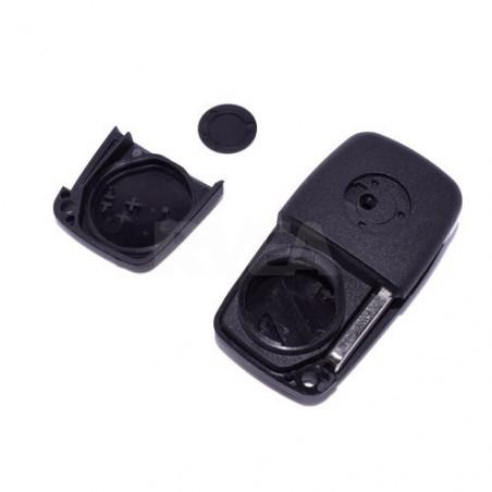 Télécommande 2 boutons Citroën Jumpy, Nemo pile au dos de la clé