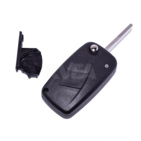 Coque de clé 2 boutons Citroën Jumpy, Nemo pile sur le coté CE0678