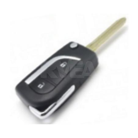 Coque de clé 2 boutons Toyota Aygo, Yaris