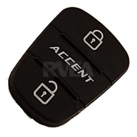 Bouton caoutchouc 3 touches pour Hyundai Accent