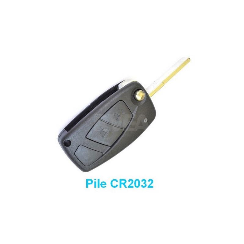 Boitier coque de clé 2 boutons pour Peugeot Boxer