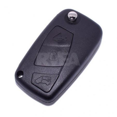 Coque de clé 3 boutons Fiat Ducato, Panda, Punto pile sur le coté CE0678