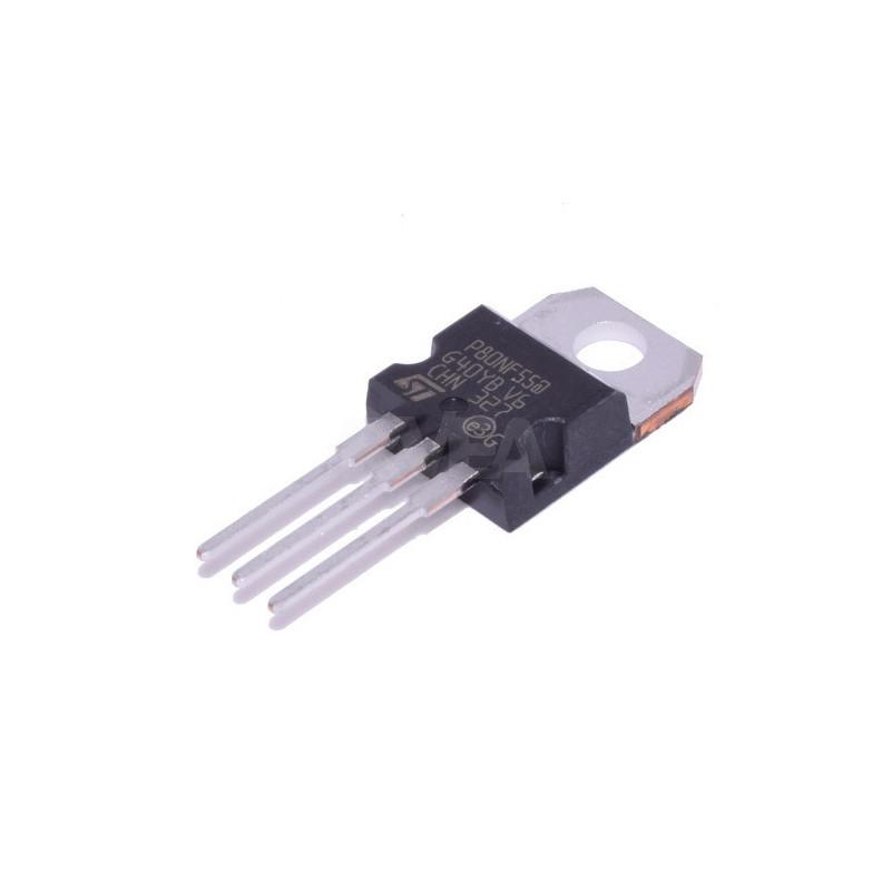 Transistor de puissance STP80NF55-06 pour résistance de ventilation