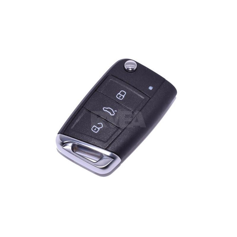 Coque de clé 3 boutons pour Volkswagen Golf, Polo