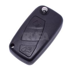 Coque de clé 3 boutons Citroën Jumpy, Nemo pile sur le coté CE0678