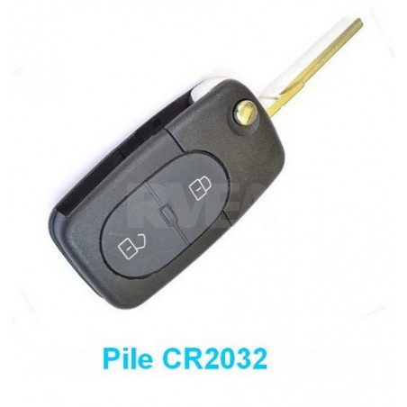 Coque de clé 2 boutons pour Volkswagen