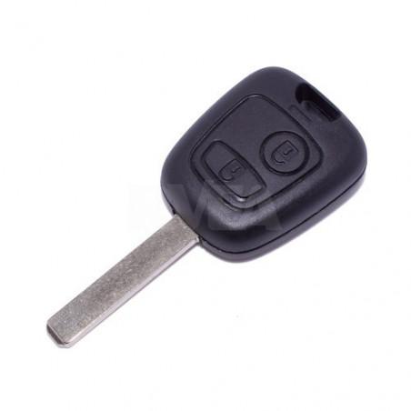 Coque de clé 2 boutons Citroën C1, C2, C3