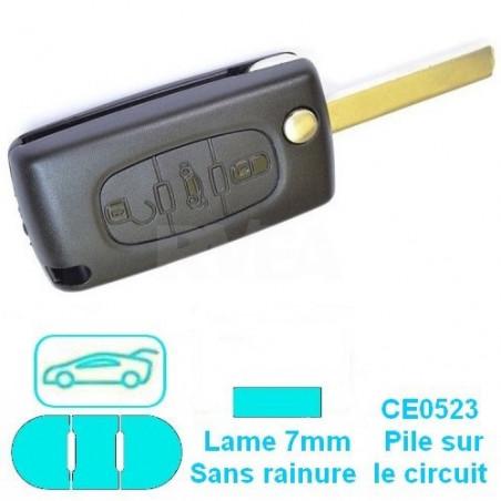 Boitier plip 3 boutons (coffre) pour Peugeot 307 407 807