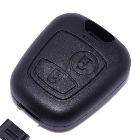 Coque de télécommande 2 boutons pour Peugeot 406 Partner