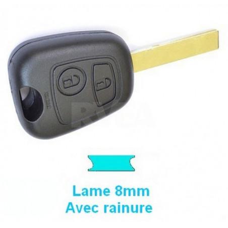 Boitier plip 2 boutons pour Peugeot 107 207 307