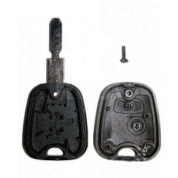Boitier coque de clé 2 boutons pour Peugeot 406