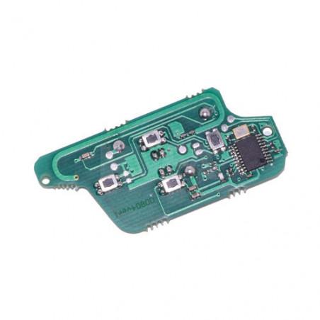 Electronique pour coque de clé 4 boutons Peugeot 807, 1007