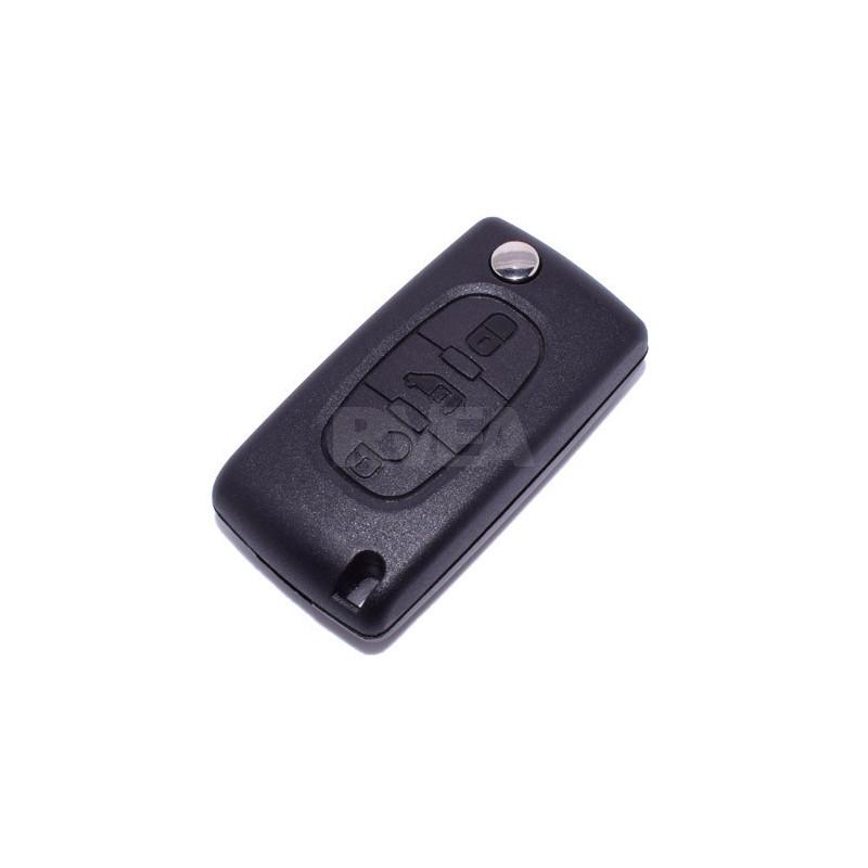 Boitier coque de clé 3 boutons Peugeot Partner CE0536