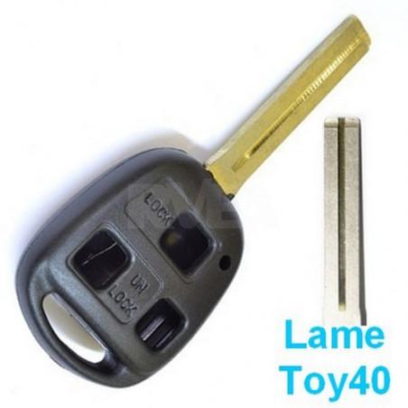 Coque de clé 3 boutons pour Toyota