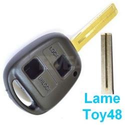 Coque de clé 2 boutons pour Lexus