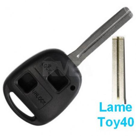 Coque de clé 2 boutons pour Toyota