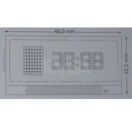 Ecran LCD droit pour compteur Mercedes