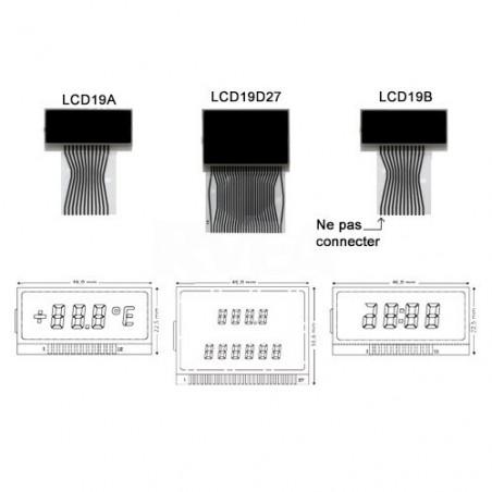 Ecran LCD central pour compteur Mercedes